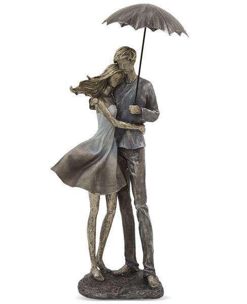Para Z Parasolką Figurka Dekoracja Wys 55 Cm