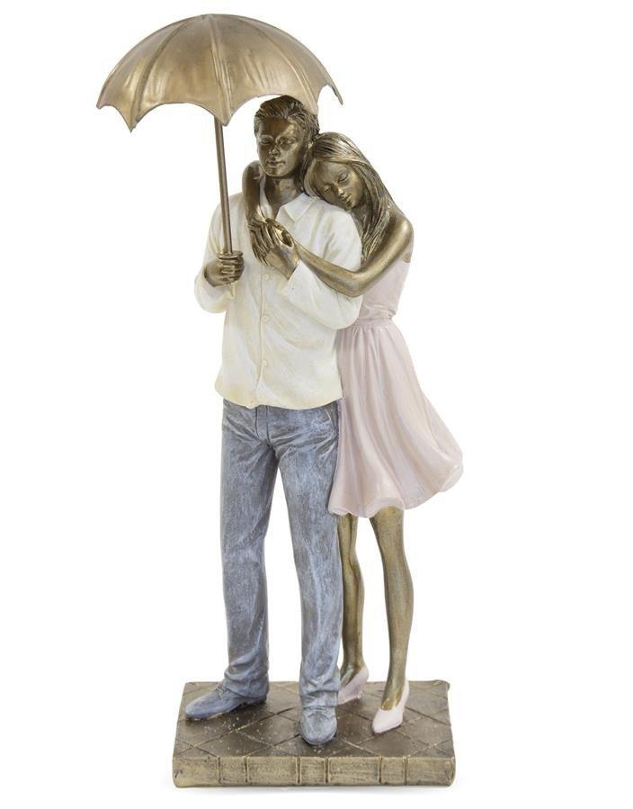 Para Pod Parasolem Figurka Dekoracja Wys 30 Cm