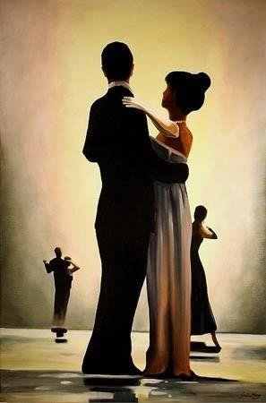 JACK VETTRIANO - DANCE ME TO THE END OF LOVE obraz ręcznie malowany, 60x90 cm